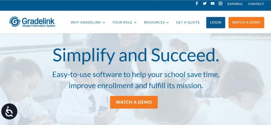 Gradelink SIS student record system