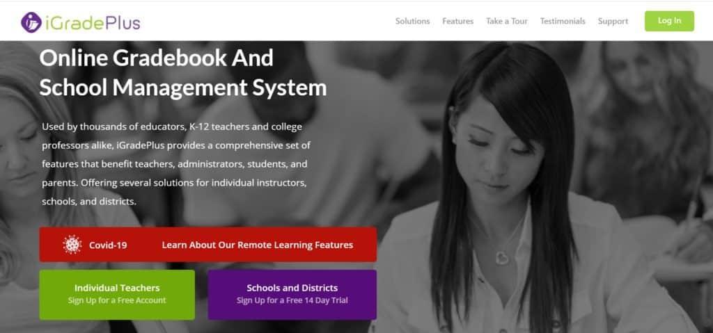 iGradePlus student record management system